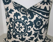 Fabric BOTH SIDES 20 x 20 Beautiful Suzani Ikat pillow cover