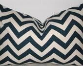 20 x 14 Ikat Zig Zag zigzag Lumbar pillow cover Sapphire Blue