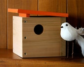 Case Study Mini. Modern Birdhouse in Orange by Nathan Danials for burdhaus