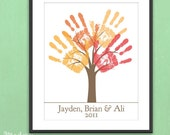 DIY Personalized Child's Handprint Tree - Printable pdf Kids Craft Project
