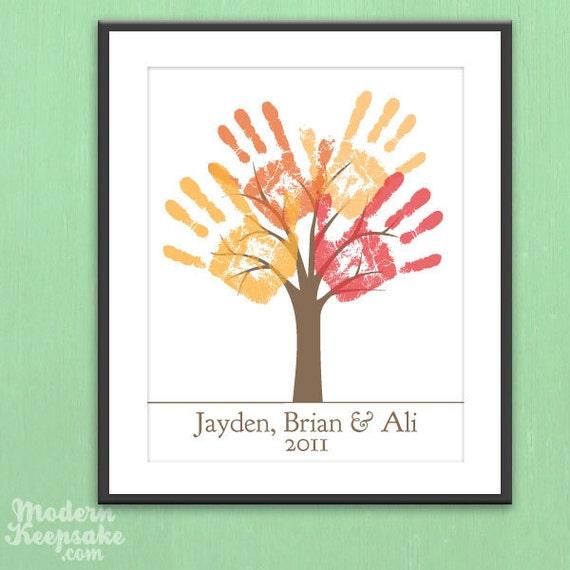DIY Personalized Child's Handprint Tree - Printable pdf Kids Craft Project
