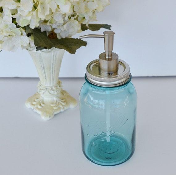 Decorative Soap Balls: Mason Jar Soap Dispenser Blue Ball Mason Jar Soap By