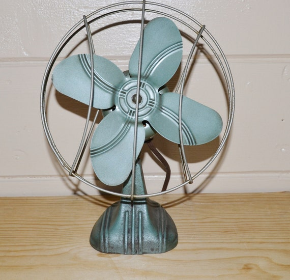 Vintage Fan Vintage Green Metal Fan