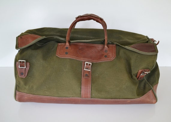 RESERVED for Ray Vintage Green Orvis Battenkill Canvas Leather Duffle Bag