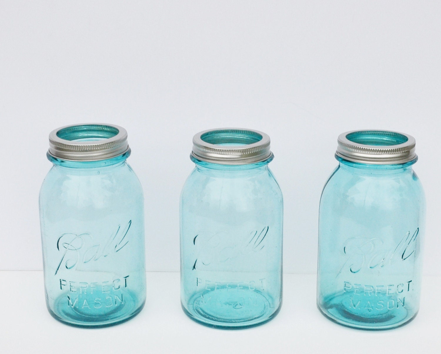 Vintage Blue Ball Perfect Mason Jars Set Of 3 By Judysjunktion