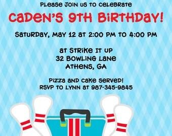 Printable Bowling Party Invitation