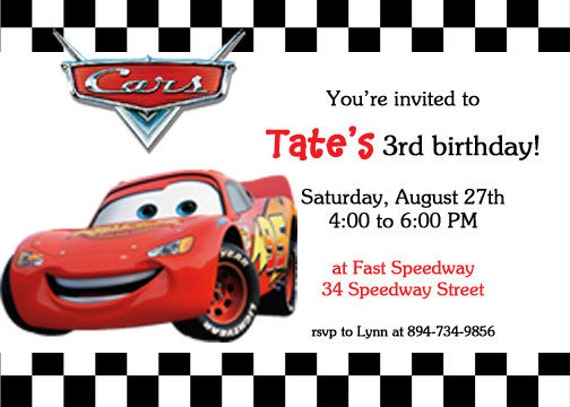 Similiar Cars Invitations Printable Birthday Card Keywords – Birthday Cards with Cars