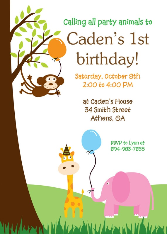 Baby Shower Invitations Jungle Theme for luxury invitations ideas