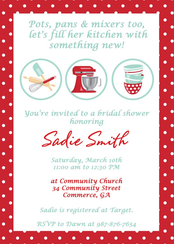 Bridal shower invitations free kitchen themed bridal shower invitations free kitchen themed bridal shower invitations filmwisefo
