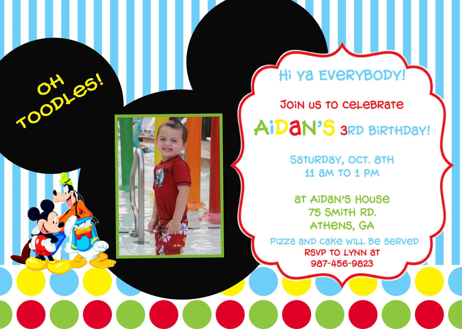 Mickey Mouse Clubhouse Birthday Party Invitation – Mickey Mouse Clubhouse Birthday Invites