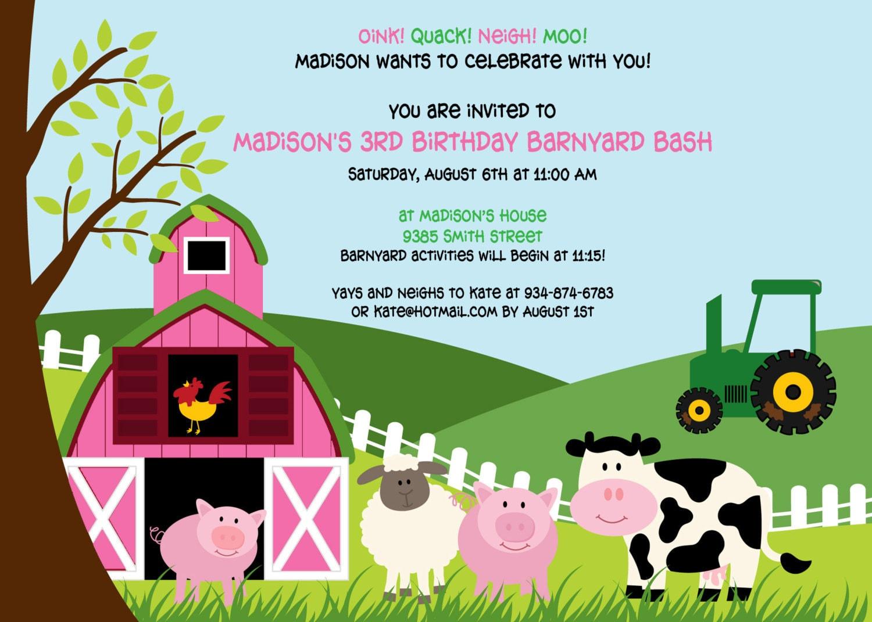 Farm invitations | Etsy