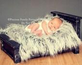 Antique Black Photo Prop Newborn Classic Bed
