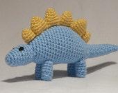 Custom Crochet Stegosaurus Dinosaur Toy