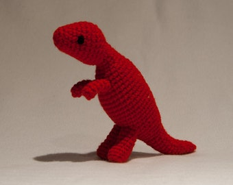 Custom Crochet T-Rex Dinosaur Toy