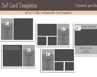 5x7 card template