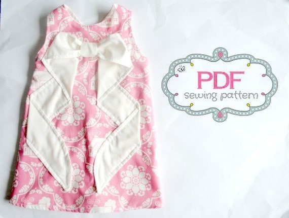 Evangeline Dress PDF Pattern Tutorial, Ebook,Epattern sizes 12months- 5T Easy Sew Summer Dress