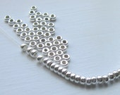 SALE rondelle sterling silver beads 3mm - 8 beads
