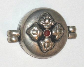 SALE Pendant 925 sterling silver Thai prayer box