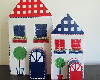 Daytime/Nighttime - bright houses