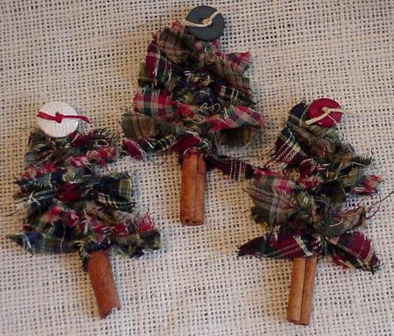 Cinnamon Stick Trees Prim Homespun Woodland Christmas Tree