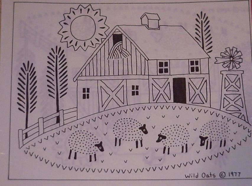 Barnyard Transfer Pattern Hot Iron On Transfer Original