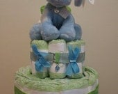 Cloth Diaper cakes made of clothing, receiving blankets or pre folded cloth diapers