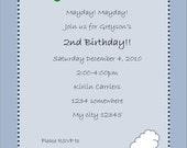 Transportation Party Collection Custom Invitations - BellaGrey Designs