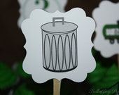 Trash Garbage Truck Birthday Party Cupcake Topper