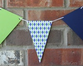 CUSTOM Banner - Father's Day Argyle Birthday Party
