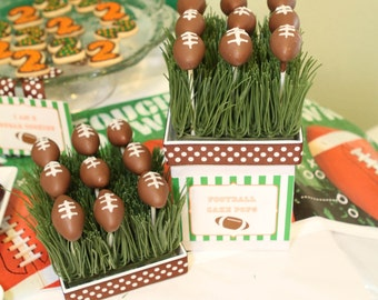 Football Party Food Labels Printable Labels