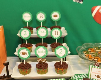 Football Party Collection Printable Cupcake Toppers