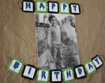 Trash Garbage Truck  Birthday Party Custom Banner