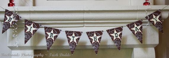 Western Cowboy Cowgirl Hoe Down Birthday Party Custom Banner