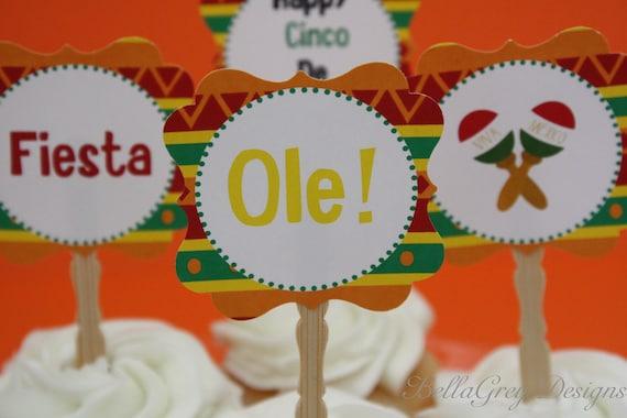 PRINTABLE Topper Fiesta Cinco de Mayo Party