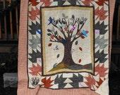 Custom Family Tree Memory Quilt