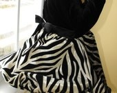 Baby/Toddler Zebra & Velvet Bubble Dress (Bodysuit)