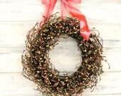 PRETTY PINK PASTEL Wreath-Baby Shower Wreath- Baby Nursery Decor-Spring-Summer Door Wreath-Scented Vanilla-Choose your Scent & Ribbon Color