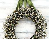 SAGE GREEN & CREAM Berry Wreath-Inspired Vintage Wedding Decor-Cottage Garden Wedding Wreath-Scented Apple Cinnamon-Choose Scent and Ribbon
