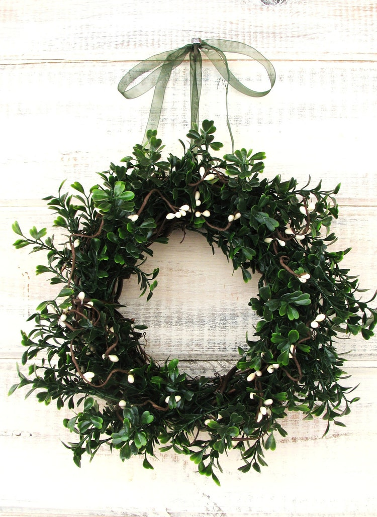 Mini Window Wreath Country Cottage By Wildridgedesign On Etsy