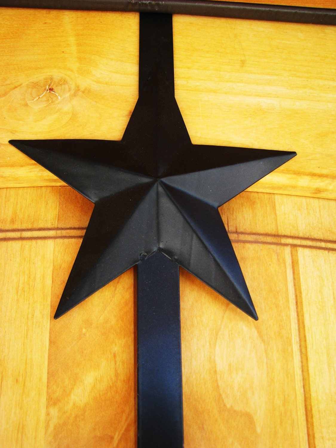 Country Primitivel Star Door Wreath Hanger Door Hook Front