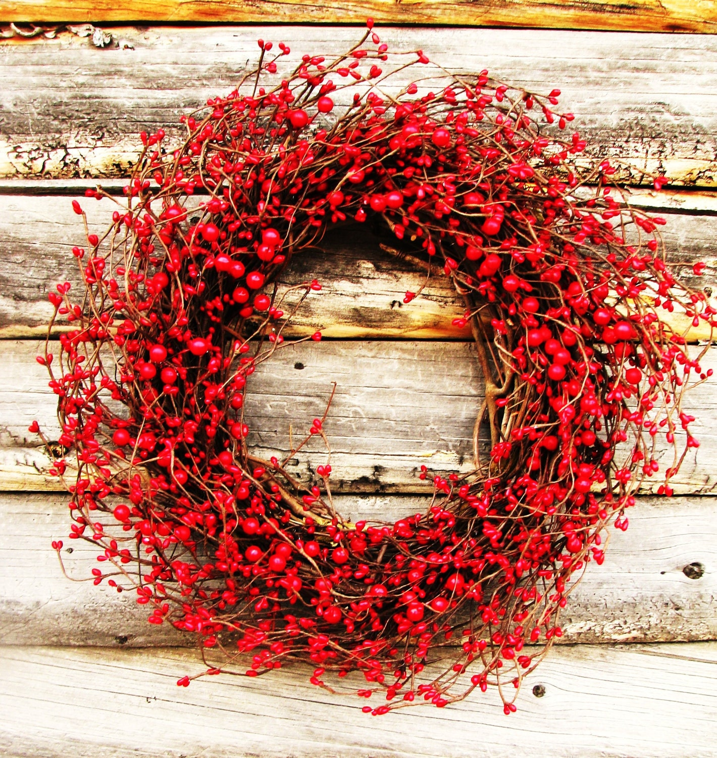 Winter wreath valentines wreath red berry wreath holiday for Where can i find christmas decorations