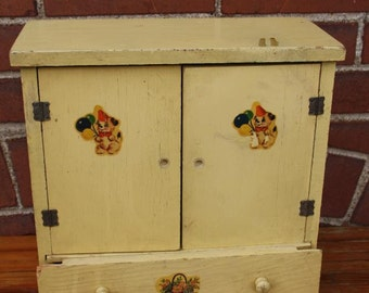 Vintage Wood doll clothes cabinet