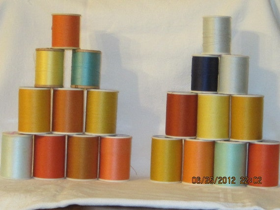 20 Spools of Assorted Thread FREE SHIPPING.