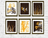 Modern Art for Home Decor-Prints- Wild Beauty- Set of 6, 5X7, Other sizes available