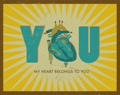 Personalized Prints for Couples - Heart and You- 14X11 Inches, Other sizes, Valentines Day