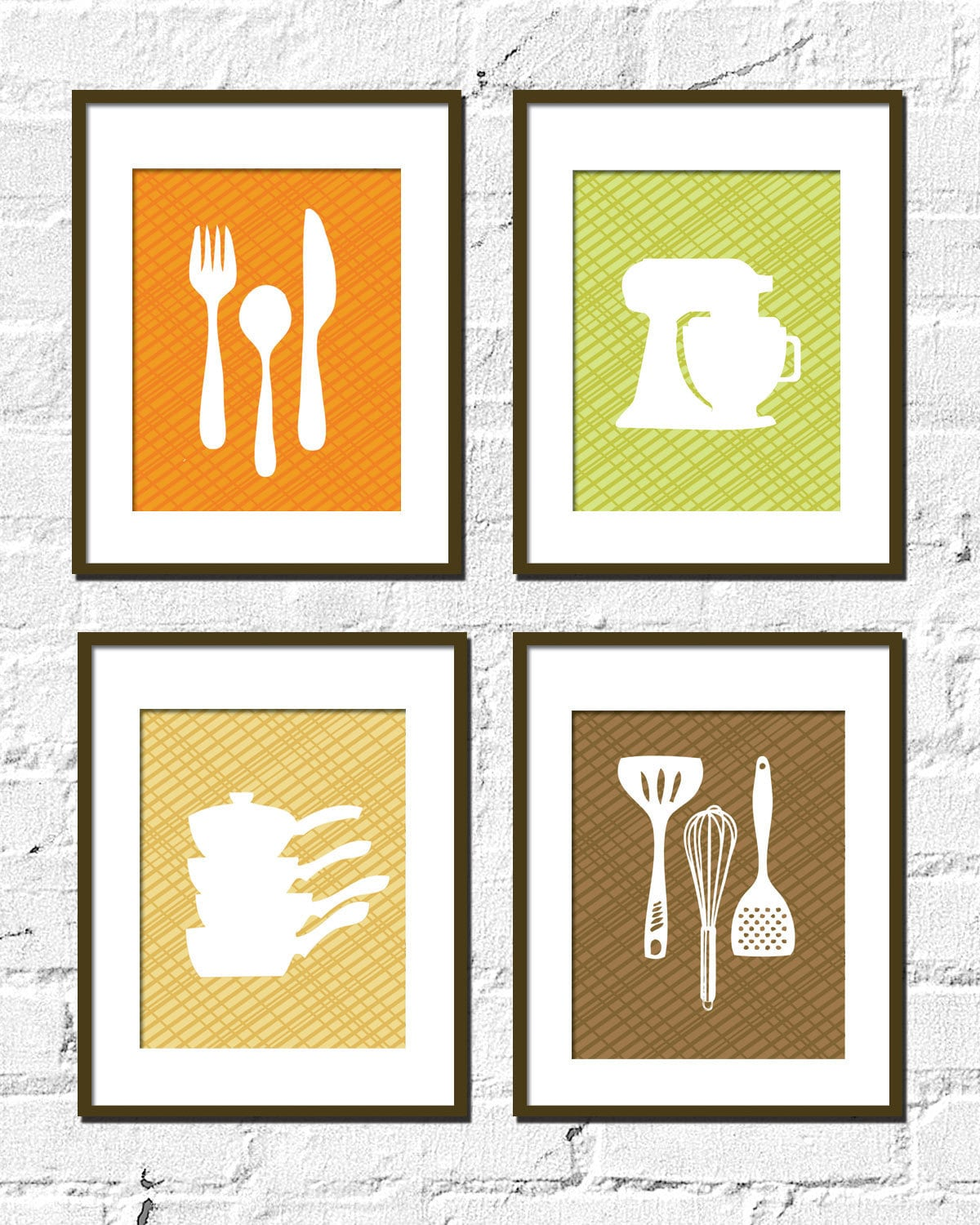 Kitchen artwork print set crisscross kitchen set by - Poster per cucina ...