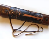 Ornate Quiver, thick leather, traditional archery