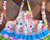 Reserved listing for funkydesignergirl - Ruffled Apron