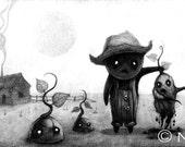 "Print of Original ""Potato Monsters"" Drawing"