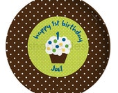 Personalized Melamine Plate -First Birthday